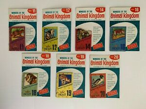 Vintage, 1950s, WONDERS OF THE ANIMAL KINGDOM Stamp Packets, lot of 7