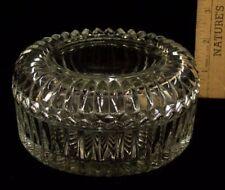 Jeannette Clear Depression Glass Candy Dish-Trinket Box- Vanity Powder Puff Jar