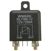 12V 100Amp 4-Pin Heavy Duty ON/OFF Switch Split Charge Relay For Auto Boat W3I5