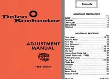 Delco Rochester 1962 - Delco Rochester Adjustment Manual 1962 Edition