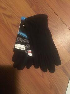 Isotoner Men's Smartouch Tech Stretch Gloves Black XS Retail $55