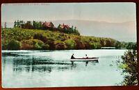 RARE VTG Truckee River at Reno Nevada Real Photo Old Postcard RPPC Fishing