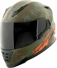 Speed & Strength SS1600 Straight Savage Camo Motorcycle Helmet Green Large