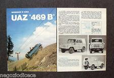 BF35 - Clipping-Ritaglio -1974- IMPRESSIONI DI GUIDA , UAZ 469 B