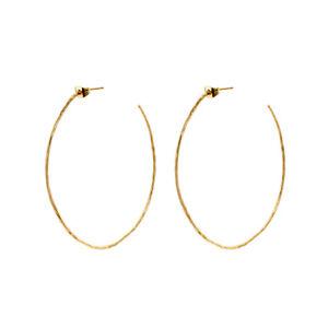 Gold Triple Square Drop Dangle Brass Earrings ZeyDor Aesthetic Hoop Geometric Ethnic Vintage Wedding Boho Jewelry 22k Gold Plated for Women