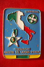 Rare Old Italy Lombardia Bronze Medal Federation masters of the Italian job