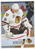 2017-18 Upper Deck CHL RAINBOW ROOKIE RC Cole Kehler  #188