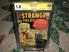 Strange Tales #110 CGC 1.8 SS Stan Lee 7/1963 Signed on 9/14/18