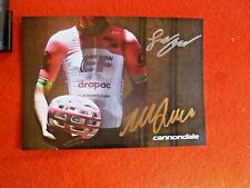 Pro Cyclists William Clarke & Logan Owen Isigned Cycling Fan Card