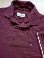 Mens Vivienne Westwood Burgundy Fitted Short Sleeve Cotton Polo Shirt Size XL