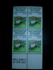 US Sc# 1542 1974 First Kentucky Settlement 10c mail early block of 4 MNH -#1326