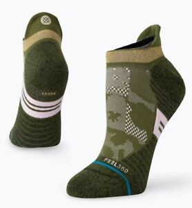 Stance FEEL 360 Infiknit Caught Up Tab Cycling Men Size Large 9-13Olive