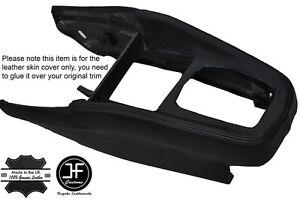 BLACK STICH CONSOLE GEAR SURROUND LEATHER COVER FITS VW GOLF MK4 IV JETTA 98-05