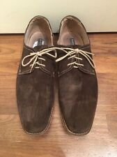 Aston Grey Suede Leather Shoes Sz13