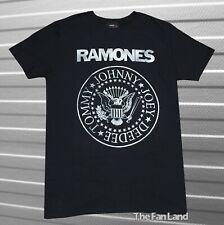 New The Ramones Men's Rustic Presidential Seal Black Vintage Classic  T-shirt