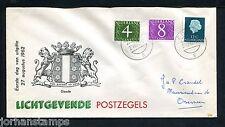 FDC Philato W0) geïllustreerde envelop, nvph 774-776, fluoriserend, met adres ;