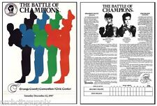 1987 BATTLE OF CHAMPIONS PROGRAM - KICK BOXING - FREE SHIP   #Q-DWP    RAP133 A