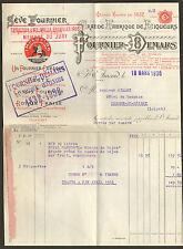 18 SAINT-AMAND-MONTROND FACTURE FOURNIER DEMARS LIQUEURS 45 CERDON GILLET 1936