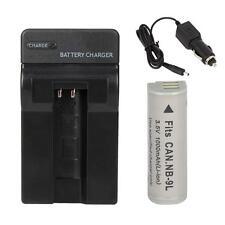NB-9L Battery+Charger for Canon PowerShot Digital ELPH 510 HS 520 HS 530 HS