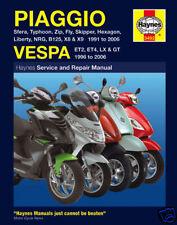 Vespa Scooter ET2 ET4 LX2 LX4 50 125 GT125 GT200 1991-06 Haynes Manuale 3492