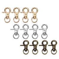 4pcs Lobster Clasp Swivel Trigger Clip Snap Hook Bag Car Rings Keychain Hot