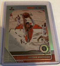 Hassan Whiteside 2019-20 NBA Hoops Premium Stock Silver Prizm Card #196 Blazers