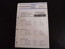 Schaltbild  Service Informationen  Telefunken  digitale 80