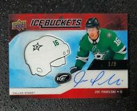 🔥🔥📈  2019-20 UD ICE JOE PAVELSKI AUTO #1/5 RED ICE BUCKETS Stars FOTL