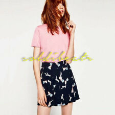 RARE!!! Zara Basic Short Skirt-Pants With Birds