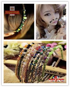 Women Diamond Jewel Gems Pearl Headband Crystal Hair Band Girl Ladies Headwear J