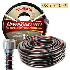 GARDEN WATER HOSE 5/8 In x 100 Ft Commercial Heavy Duty Flexible Outdoor Yard