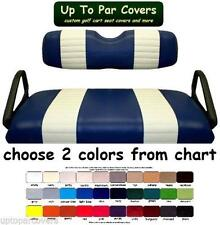 E-Z-Go RXV Golf Cart Custom Seat Cover Set - 2 STRIPE STAPLE ON