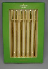 "KATE SPADE - Ink Pen Set - ""Strike Gold Pen Set"" - Set of 6"