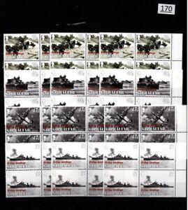 /// 12X GIBRALTAR 2004 - MNH - PLANES, SHIP, TANK, WAR