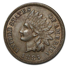 1885 One Cent Indian Head Penny Coin Lot # MZ 2246