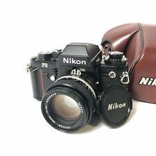 Nikon F3 35mm SLR Film Camera w/ Nikkor 50mm Lens & Genuine Leather Case NO BATT
