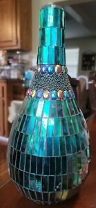 Mosaic Decorative Bottle; Hight, 14 inches, Width 22.5