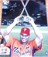 Bobby Abreu autographed signed Phillies 2005 Home Run Derby 16x20 poster photo