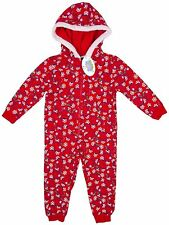 GIRLS RED PEPPA PIG  ALL IN ONE PYJAMAS FESTIVE CHRISTMAS DESIGN 9M-6YRS