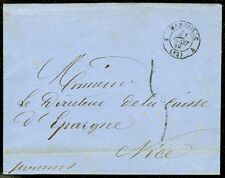 FRANCE : 1859. Folded Stampless Letter. Marseille - Nice.