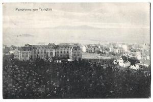 alte AK Panorama von Tsingtau Kiautschou 1914