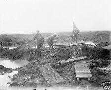 Canadian Troops Passchandaele Trench World War 1 1917, 6x5 Inch Reprint Photo