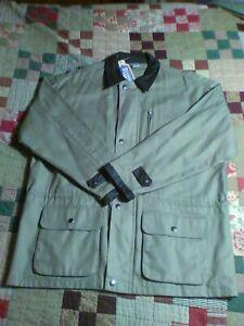 Marlboro Canvas Barn Coat M Mens Jacket Leather Trim New Cowboy Chronicles NWT