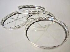Antike um 1900 Untersetzer Sterling Silber 925 Kristalleinsatz sehr edel b8fc1544a8