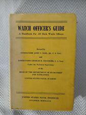 1953 NAVY Watch Officer's Guide Handbook - U.S. Naval Institute w/ DJ - 5th Ed.