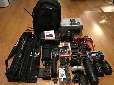 Canon EOS 5D Mark III 22.3 MP Digital SLR Camera W/3 CanonEFLens,HUGE STUDIO KIT