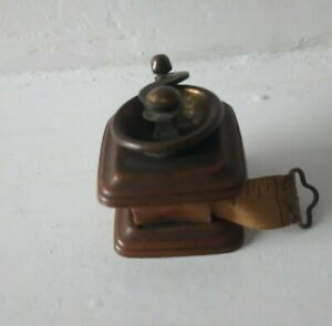 Vintage Retractable Brass Tape Measure with winding lever
