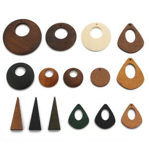 Round Wood Beads,Natural Wood Charm,Flower Wood Pendants,Wood Earrings Charm,Natural Wood Beads,Laser Cut Wood Charm,Wooden Charm Pendant