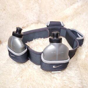 Nike Lightweight Running Hydration Belt 3 Bottles Secure Pocket Adjustable Used