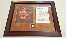 Jason Mraz Framed Autographed 8x10 Photo With Set List & Guitar Pick Beckett COA
